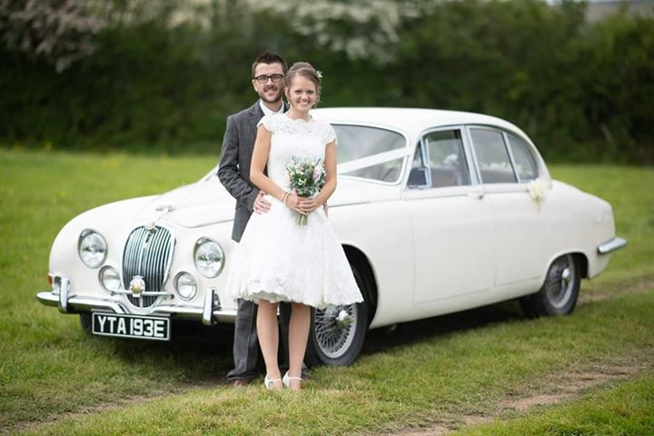1967 S-Type Jaguar Wedding