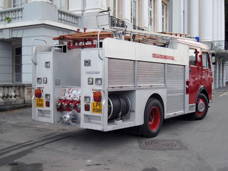 Dennis Fire Engine Rear