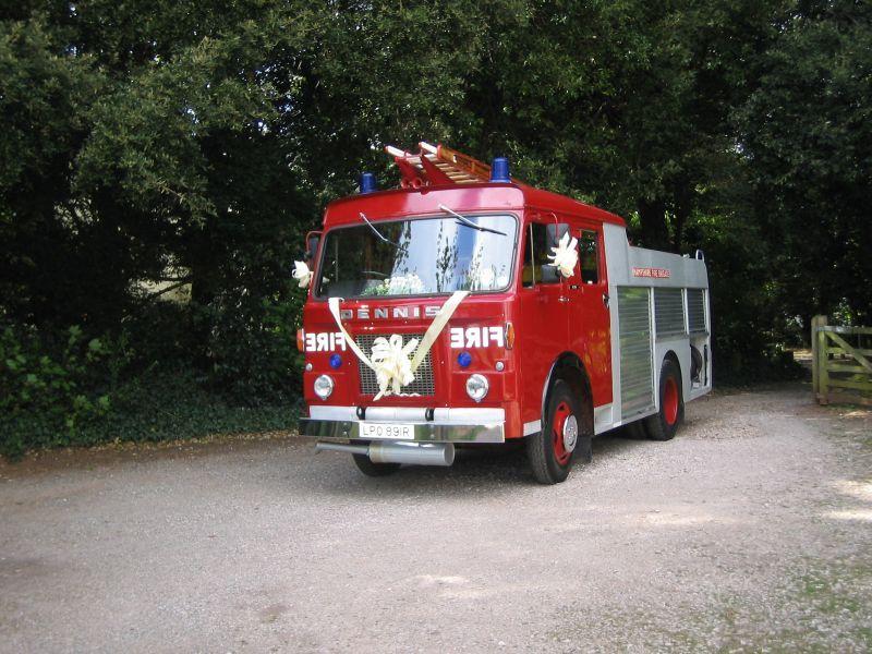 Dennis Fire Engine Wedding