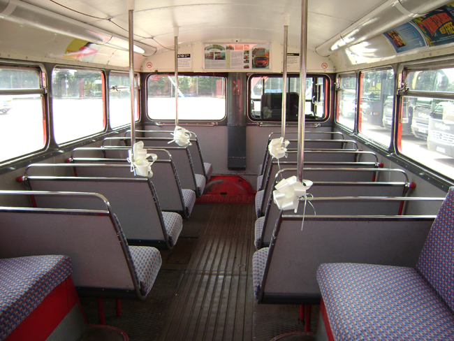 1964 London Transport Routemaster bus RM1872 Interior